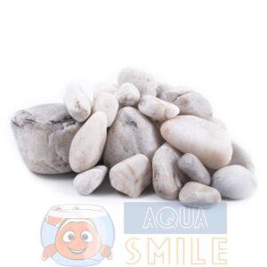 Камень для аквариума окатыш белый гладкий (мелкий) 2-10 см