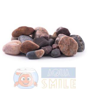 Камень для аквариума окатыш разноцветный 2-10 см