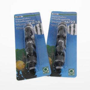 Двойной кран для аквариумного фильтра JBL double stopcock+quick coupling