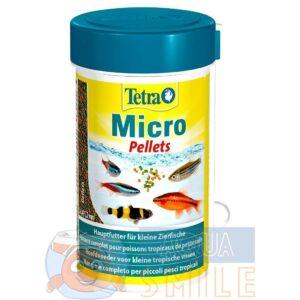 Корм для мелких аквариумных рыб Tetra в гранулах Micro Pellets 100 мл