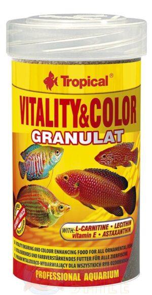 Корм для рыб в гранулах Tropical Vitality Color Granulat 100 мл