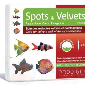 Лекарство для рыбок от ихтиофтириоза Prodibio Spots & Velvets Fresh 6 ампул