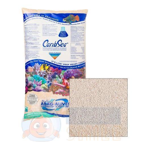 Живой песок для аквариума CaribSea Bahama's Oolite 9.07 кг