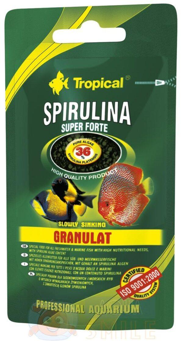 Корм для рыб в гранулах Tropical Super Spirulina Forte Granulat