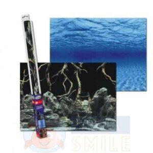 Аквариумный задний фон AQUA-NOVA Синее море/Камни с корягами