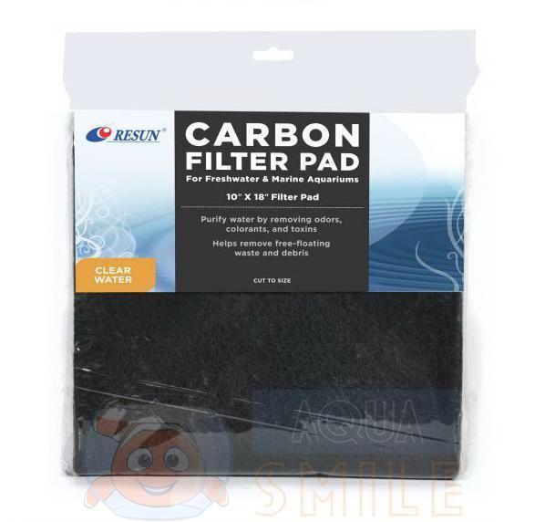 Фильтрующий материал в аквариум Resun FTP-02 CARBON FILTER PAD 254х457 мм