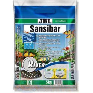 Грунт для аквариума JBL Sansibar River светлый с чёрным 0,8 мм