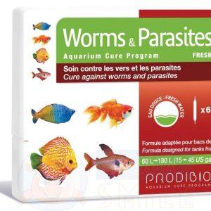 Лекарство для рыбок против червей и паразитов Prodibio Worms & Parasites Fresh 6 ампул