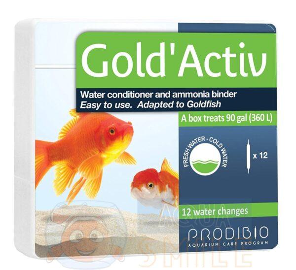 Кондиционер для аквариума Prodibio Gold'Activ 12 ампул