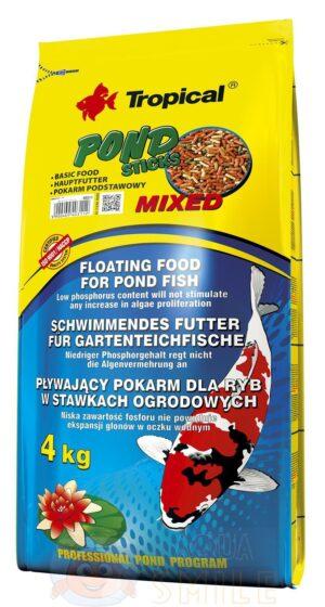 Корм для прудовых рыб Tropical Pond Sticks Mixed 50 л / 4 кг