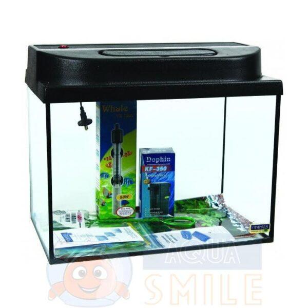 Прямой аквариумный комплект Скалярия Природа, 34 л (PR740596)