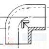 Угол — колено 90 градусов Aqua Medic elbow 90 12151