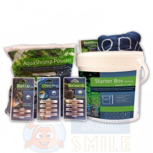 Набор для аквариумов с креветками: грунт и препараты Prodibio Starter Box Shrimp 0,6 — 1,2 мм