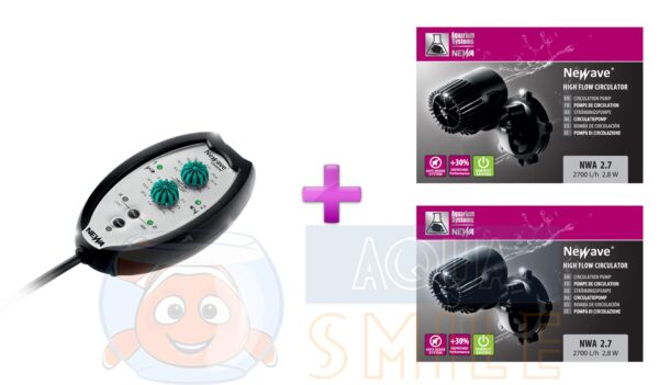 Циркуляционный насос для аквариума NWA 2.7 (2 шт) + контроллер, набор