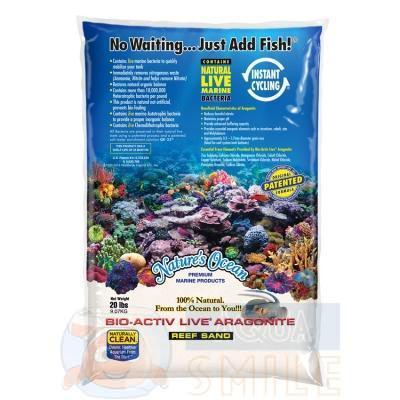 Живой песок для аквариума Nature`s Ocean BioActiv Live sand White 9 кг