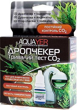 Тест для аквариумной воды CO2 AQUAYER Дропчекер плюс Индикатор